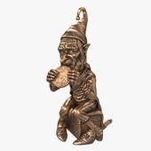 """Figurine """"Gnome with a coin"""""""