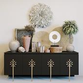 Ambella Sapling cabinet + ethnic decorative set
