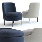 West Elm Modern Curved Chair