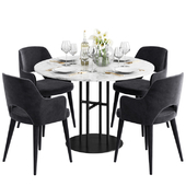 Coco Republic Flex Dining Table & Astor Carver Dining Chair