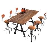 стол Kosen Dining Table и стул Buck Adjustable Stool
