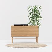 Приставной столик из белого дуба