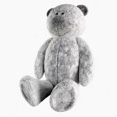 Toy gray teddy bear