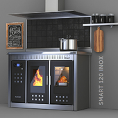 Klover stove-fireplace - Smart 120 INOX