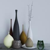 Decor set of vases
