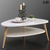 Coffee table Jimi La Redoute + decorative set