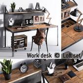 Work desk   Loft set