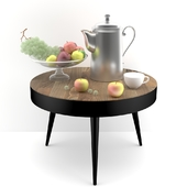 Decorative set with vintage coffee pot