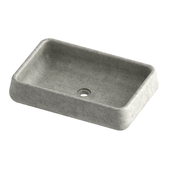 Rounded concrete sink