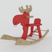 Wooden deer toy