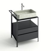 Concrete sink bathroom furniture