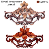 Wood decorative panels 04 Hand Carved