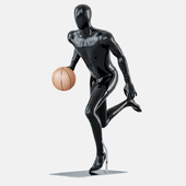 Faceless mannequins basketball 28