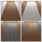 Floor marble and wood 1