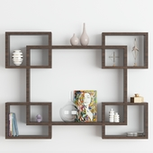 Wall wooden shelf