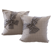Plaid pillows with bows YOU