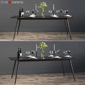 Rectangular fen dinning table