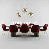 Gubi Beetle dining set