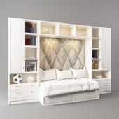 Bed in a niche