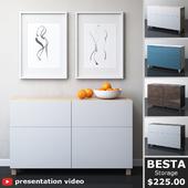 IKEA BESTA Комбинация для хранения с дверцами и ящиками