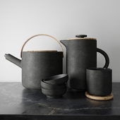 Black Nordic dishes