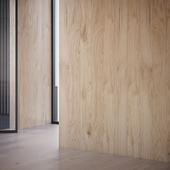 Brushed oak panel