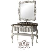 (OM) Bathroom console Olivia and Olivia's mirror Grand Romano Home