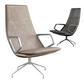 Zuma leather armchair