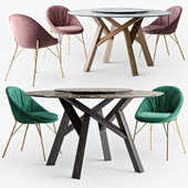 Calligaris Jungle round table Lilly chair set