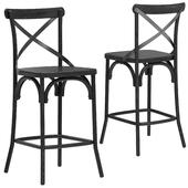 Deephouse semi-bar stool BELLA CROSS black