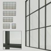Panoramic windows. Stained glass window 7