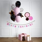Набор подарков и шарики