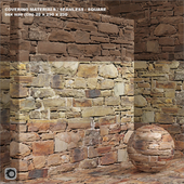 Материал (бесшовный) - камень, старая кладка set 91