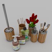 Axentia Bonja Bamboo bathroom set