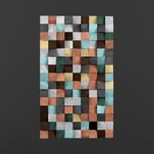 Geometric Wood Art Wall Abstract Painting