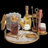 Potterybarn gold bar accessories