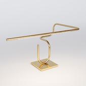 Tube Desk / Table Lamp, Handmade in Brass by Christopher Gentner