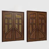 Деревянная распашная дверь