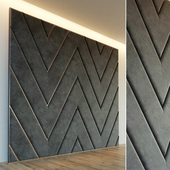 Decorative wall. Soft panel. 27
