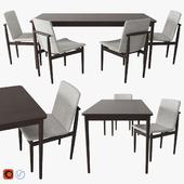 West Elm Modern Farmhouse Dining Table & Chair