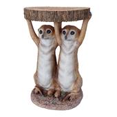 Side Table Animal Meerkat Sisters