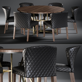 Dining Table Hayes Acacia & Chair Curran