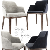 Poliform Sophia And Grace Arm Dining Chair