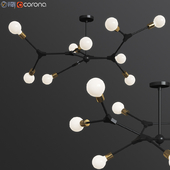 DNA Spiral structure Ceiling Light