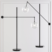 LEVER FLOOR LAMP Black