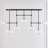LINEAR CHANDELIER 72 Black