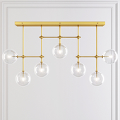 LINEAR CHANDELIER 60 Brass