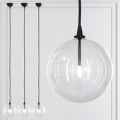 Glass Globe mobile PENDANT 8 Black