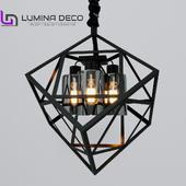 OM Pendant lamp Lumina Deco Brutte black