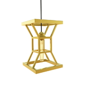 """Suspension lamp """"Hourglass Gold"""